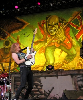 Iron Maide, crazy Janick Gers